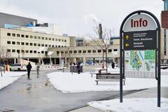 Universitetsområdet av universitetet av Ottawa, Kanada Royaltyfri Fotografi