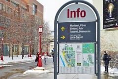 Universitetsområdet av universitetet av Ottawa, Kanada Arkivfoton