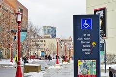 Universitetsområdet av universitetet av Ottawa, Kanada Royaltyfri Foto