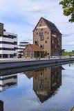 UniversitetsområdeuniversitetKleve Tyskland arkivfoto