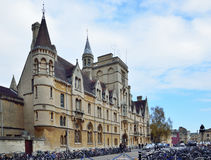 Universitetsområde av Oxford universitetet, Balliol högskola Royaltyfri Bild