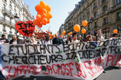 Universities strike in Paris Royalty Free Stock Images