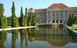 University. Of Debrecen with a pool stock photo