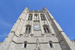 University. Clock tower on a sunny day Royalty Free Stock Photos