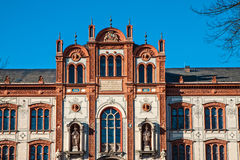 University. The university in Rostock (Germany Stock Image
