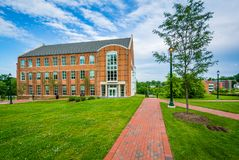 The University Academic Building at Notre Dame of Maryland University in Baltimore, Maryland.  stock images