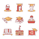 University and academic education signs set Stock Image