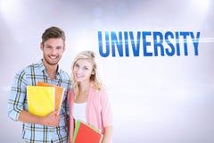 University against grey background Royalty Free Stock Photos