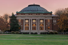 University auditorium at twilight Stock Image
