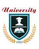 University badge or emblem Stock Photo