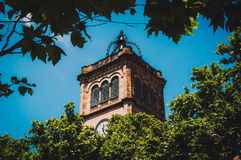 University of Barcelona. Clock of the University of Barcelona Stock Image