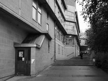 University of Bath in black and white. BATH, UK - CIRCA SEPTEMBER 2016: Department of Architecture and Civil Engineering at University of Bath designed by Peter Royalty Free Stock Images