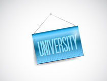 University blue hanging sign illustration Stock Image