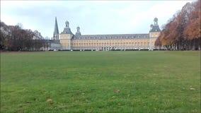 University of Bonn: View over the Hofgarten. stock footage