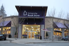 University Book Store. The facade of University Book Store in City of Mill Creek, WA Stock Image
