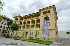 University of Bozen-Bolzano. The Free University of Bozen-Bolzano (Italian: Libera Università di Bolzano, German: Freie Universität Bozen stock photos