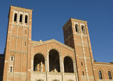 University Brick Architecture. University Brick Buiding at a Los angeles school. Rocye Hall Bell Towers Royalty Free Stock Images