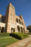 University Brick Architecture. Birck Architecture at a University campus in Los angeles school. Royce Hall Royalty Free Stock Images