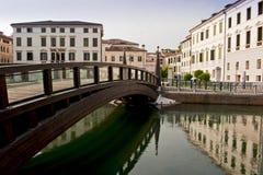 The University Bridge in Treviso, italy. stock image