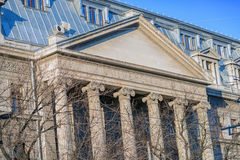 The University of Bucharest facade Royalty Free Stock Images