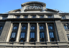 University of Bucharest, Romania. Facade of Faculties of Foreign Languages and Literatures and of Letters, University of Bucharest, Romania stock photography