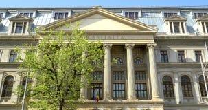 The University Of Bucharest (Universitatea Din Bucuresti). BUCHAREST, ROMANIA - APRIL 05, 2016: The University Of Bucharest (Universitatea Din Bucuresti) In stock video