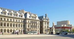 The University Of Bucharest (Universitatea Din Bucuresti). BUCHAREST, ROMANIA - APRIL 13, 2016: The University Of Bucharest (Universitatea Din Bucuresti) In stock video footage