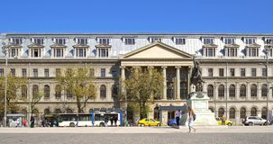 The University Of Bucharest (Universitatea Din Bucuresti). BUCHAREST, ROMANIA - APRIL 13, 2016: The University Of Bucharest (Universitatea Din Bucuresti) In stock footage