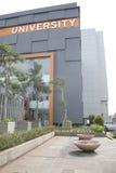 University Building. Modern University building isolated on white Stock Images