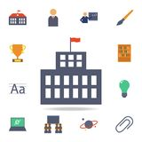 university building colored icon. Detailed set of colored education icons. Premium graphic design. One of the collection icons for stock illustration
