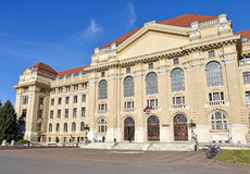 University building of Debrecen. Hungary royalty free stock photo