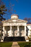 University Building in Fall. View of a university building on campus in the bright fall sun stock photos