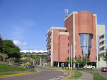 University building, Puerto Ordaz, Venezuela. View of the buildings and facilities of the Venezuelan university. Universities in South America. Brick stock photography