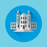 University Building Residence Icon. Flat Vector Illustration Royalty Free Stock Photo
