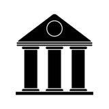 University building style temple pictogram Stock Photography