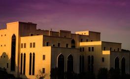 University Building In Sunset Stock Image
