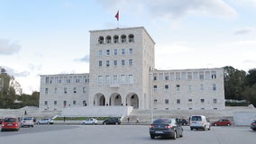 University building in Tirana stock footage