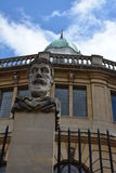 University buildinga. A view of buildings and sculptures in Oxford Stock Photography