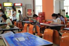 University cafeteria Stock Photo