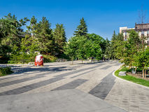 University of Calgary campus grounds. The University of Calgary campus grounds on July 13, 2014 in Calgary, Alberta Canada. The lush green campus is shot in Royalty Free Stock Photo