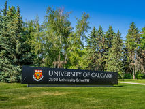 University of Calgary entrance sign Royalty Free Stock Image