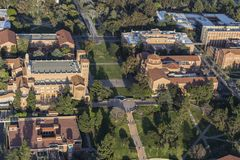 University of California Los Angeles Campus Steps Aerial Royalty Free Stock Photos