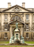 University of Cambridge. View across a courtyard of the prestigious university of Cambridge Stock Photos