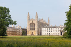 University of Cambridge buildings viewed from the back of the Ri Stock Photos