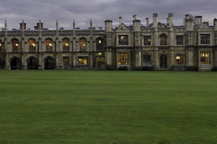 University of cambridge, kings college courtyard Stock Images