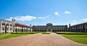 University Campus. Rice University campus in Houston, Texas stock photo