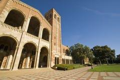 University Campus. Brick Building at University campus at a Los angeles school. Royce Hall Stock Photos