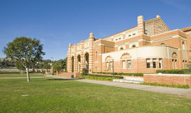 University Campus Architecture. Brick building at a University campus at a Los angeles school Stock Photography