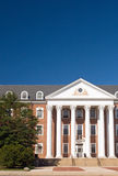University campus building. A view of the entrance to a university campus building on a bright and sunny morning.  University of Maryland Stock Images