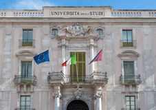 University of Catania - main building. The main building of the University of Catania Stock Photos